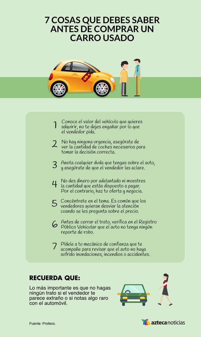 Qué debes saber al comprar un auto usado